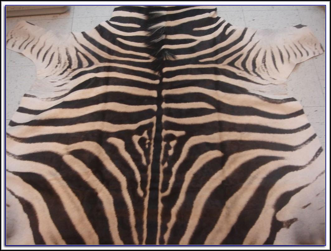 Zebra Skin Rug Ebay