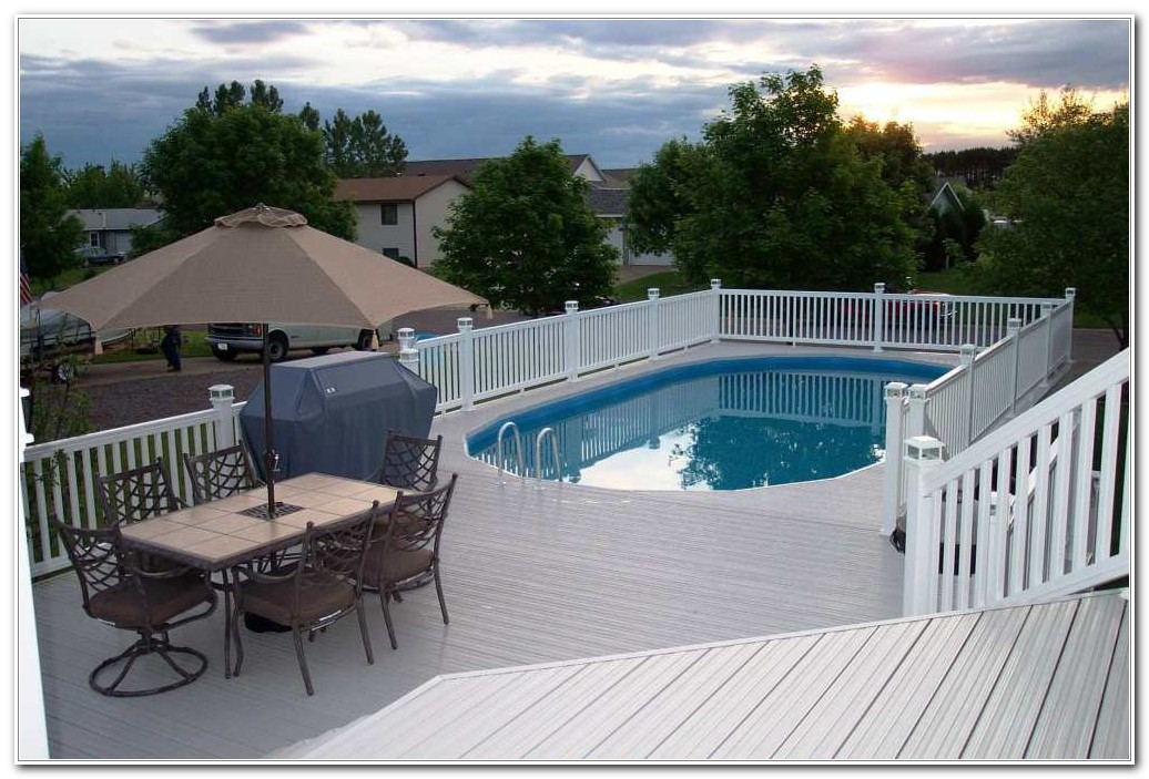 Above Ground Oval Pool Deck Ideas