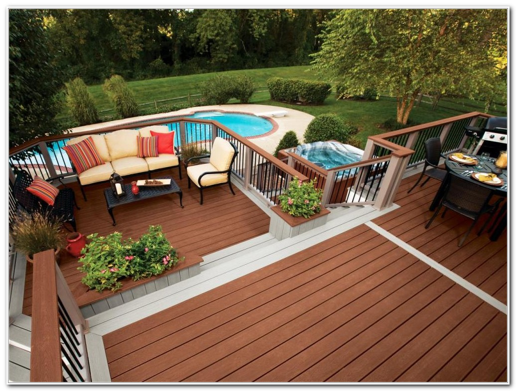 Above Ground Pool Deck And Patio Ideas