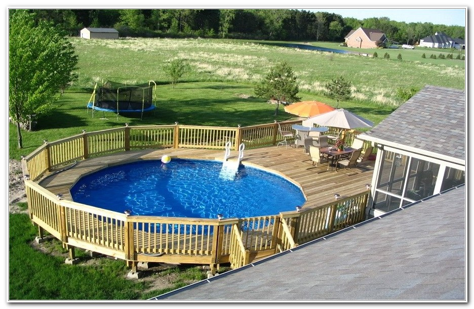 Above Ground Pool Deck Ideas Wood