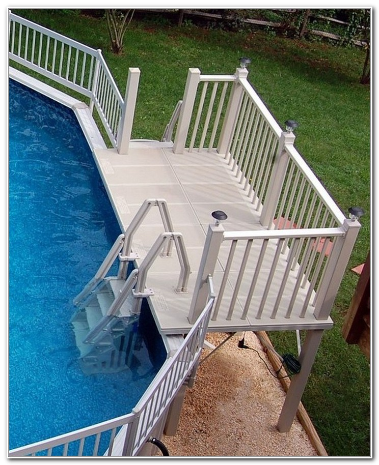 Above Ground Pool Deck Ladder Steps