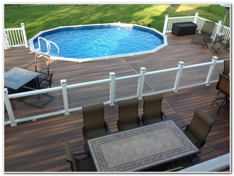 Above Ground Pool Deck Patio Designs