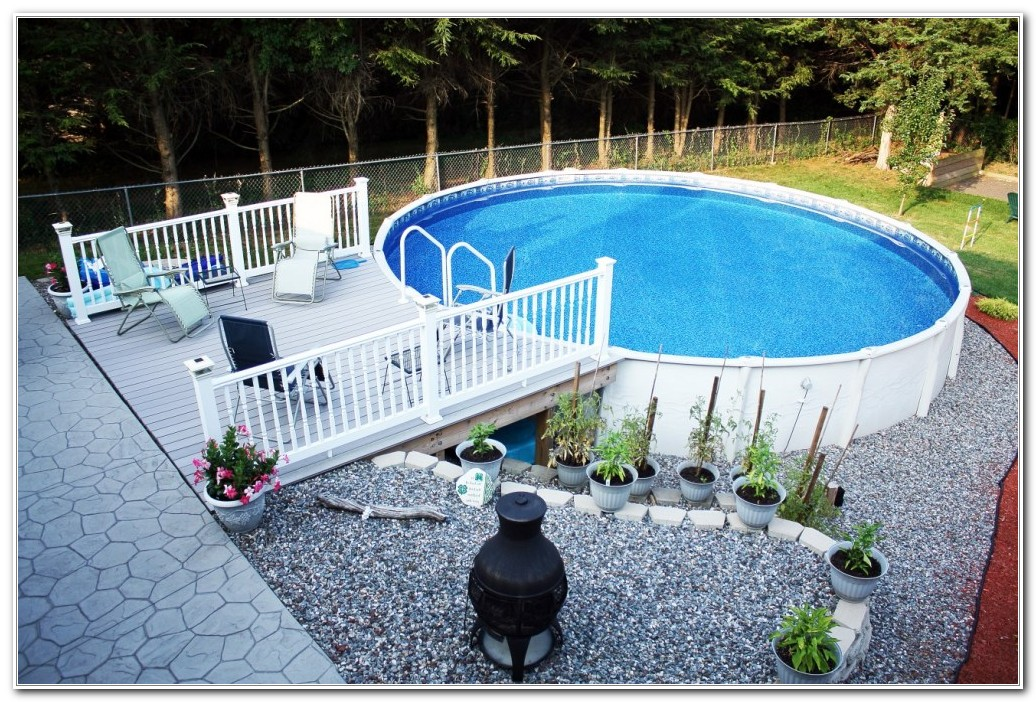 Above Ground Pool Deck Pictures Ideas