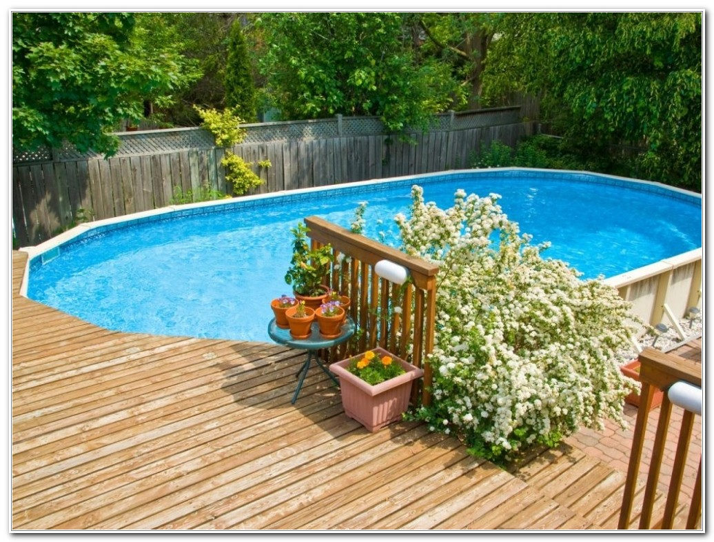 Above Ground Pool Decking Designs