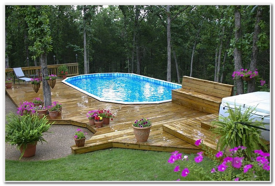 Above Ground Pool Decks Diy