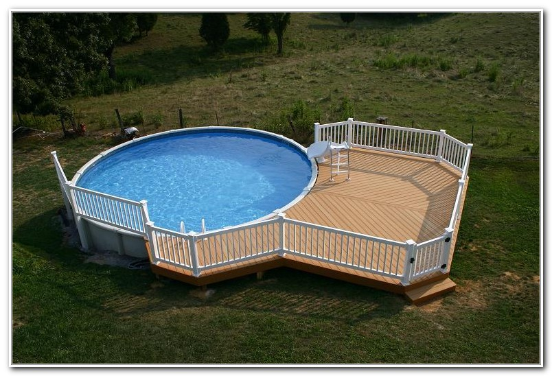 Above Ground Pool Decks Photos