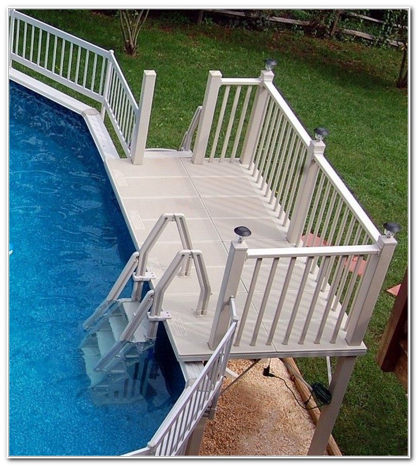 Above Ground Pool Ladder Deck Attachment