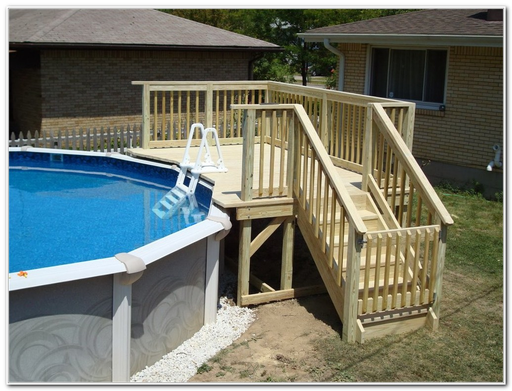 Above Ground Pool Small Deck Ideas