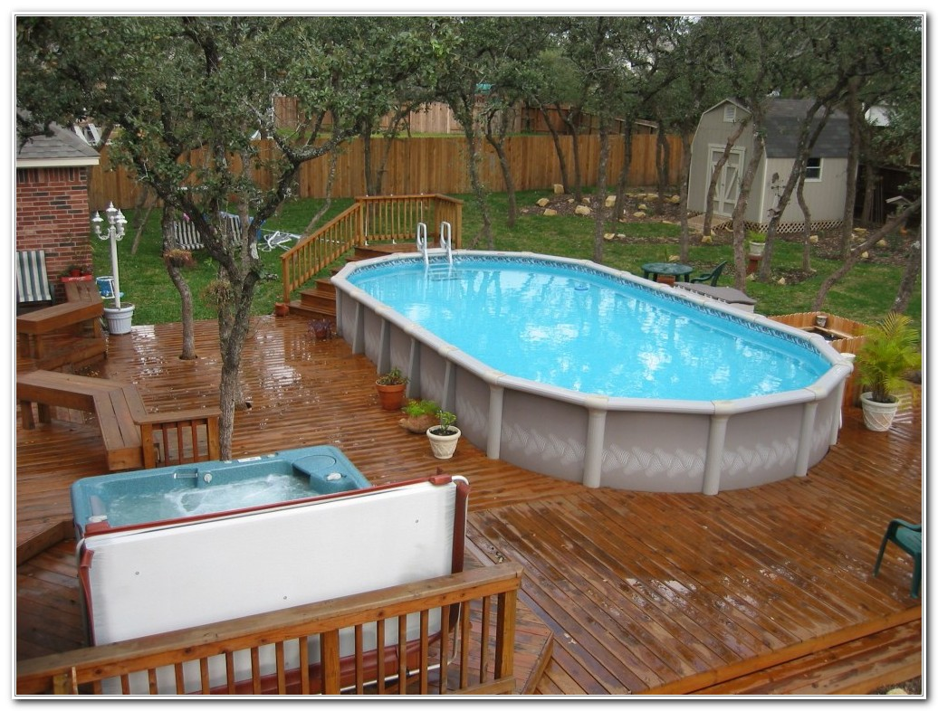 Above Ground Pool Wooden Decks
