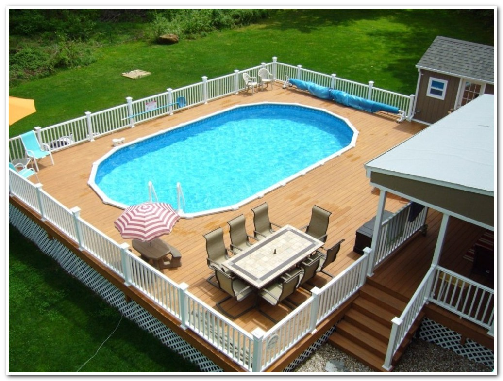 Above Ground Pools With Deck