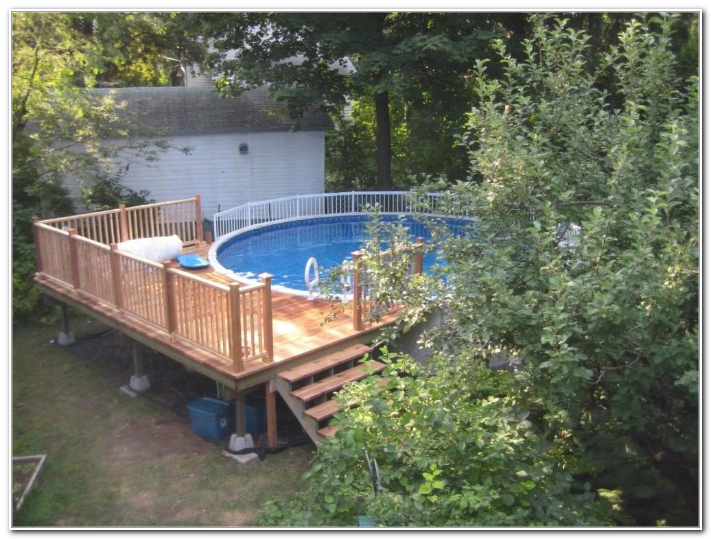 Above Ground Round Pool Deck Designs
