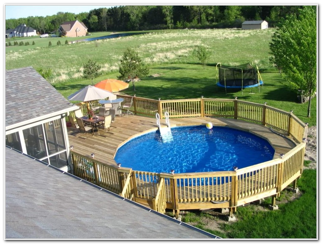 Above Ground Swimming Pool Deck Pictures