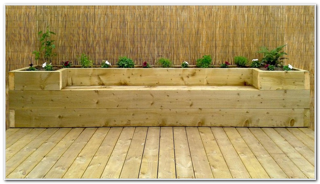 Bench Made From Decking