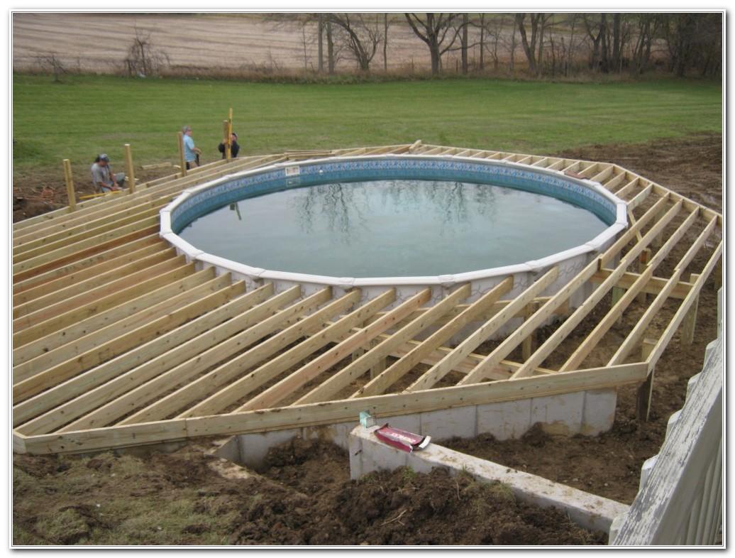 Build Pool Deck Step Step