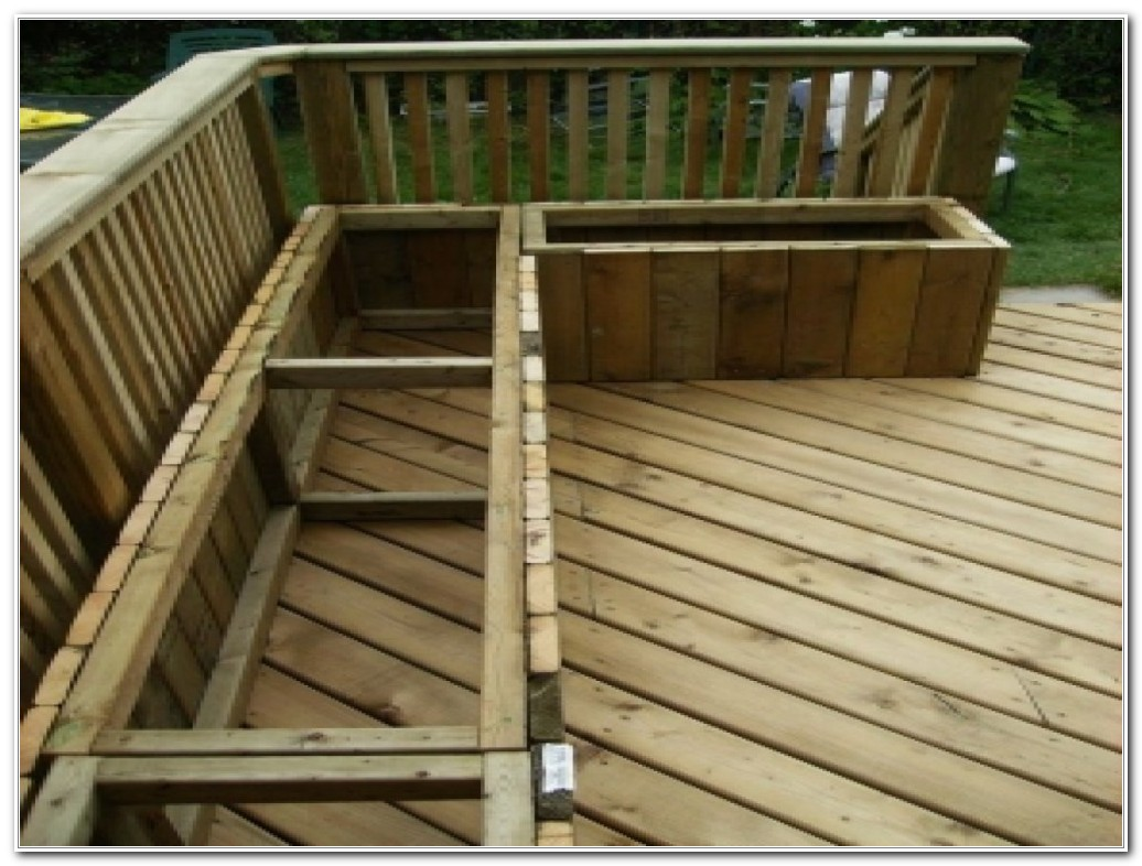 Building Deck Benches With Backs
