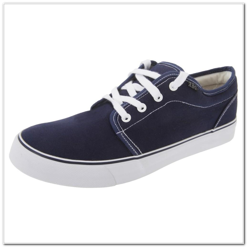 Canvas Deck Shoes Navy Blue