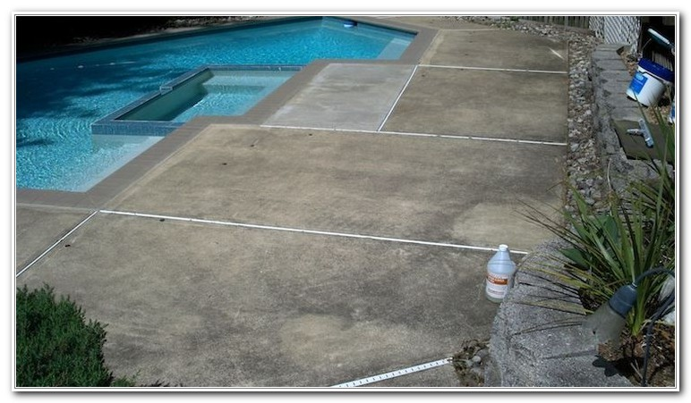 Cleaning Concrete Pool Deck