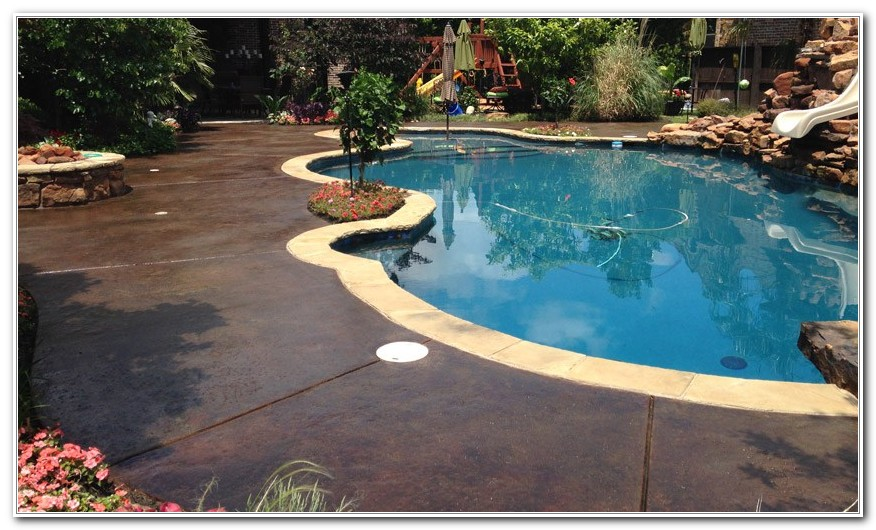 Concrete Pool Deck Stain