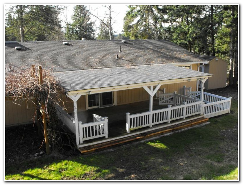 Corrugated Metal Roof Over Deck