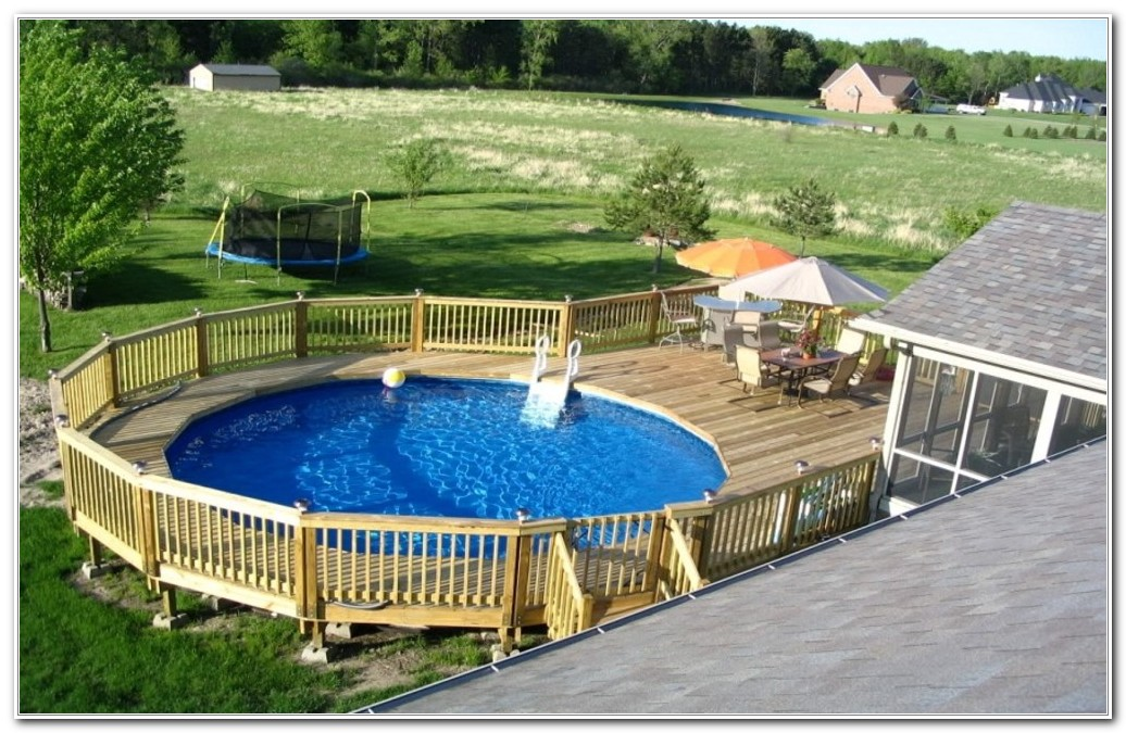 Deck Around Above Ground Pool Plans
