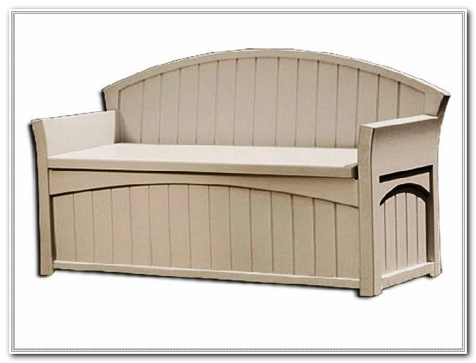 Deck Box With Seat White