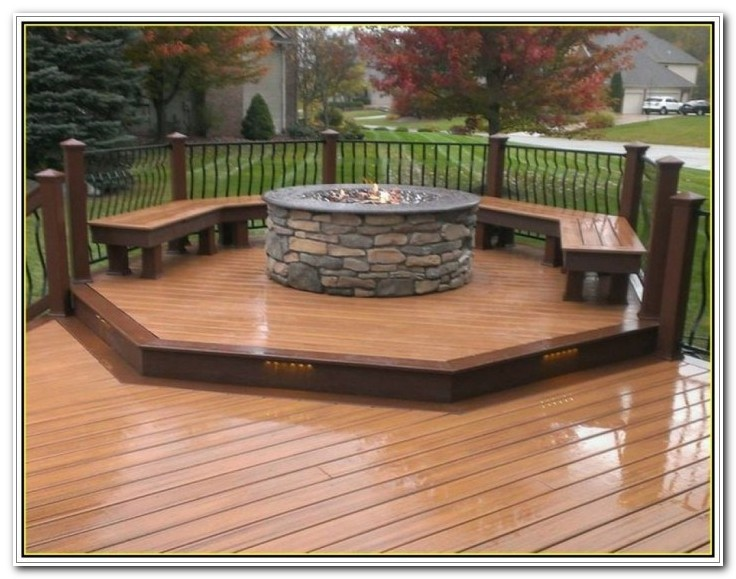 Deck Ideas With Fire Pit