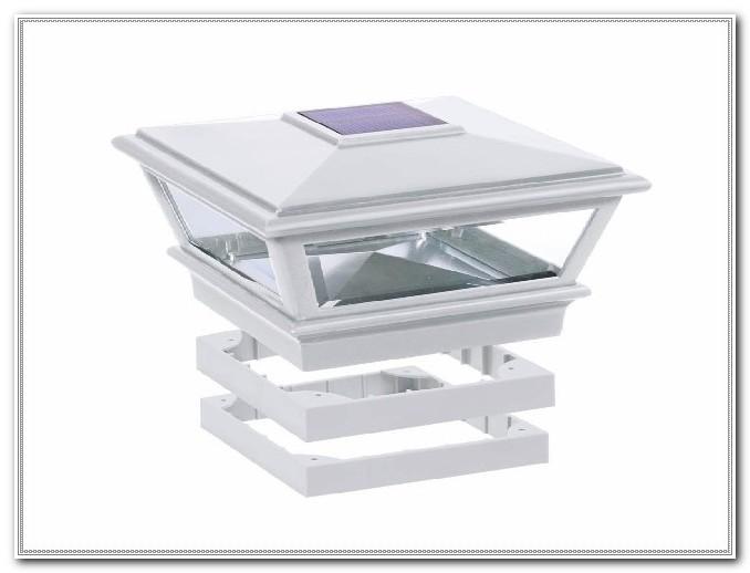 Deck Post Solar Lights White