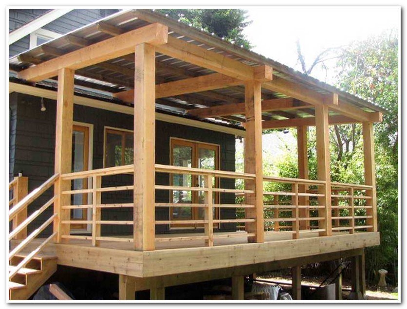Deck Step Railing Designs