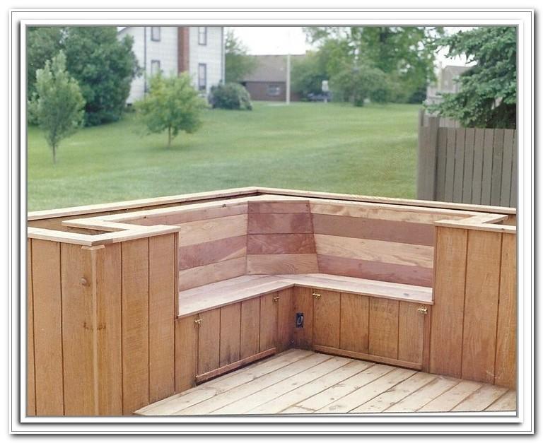 Deck Storage With Seat