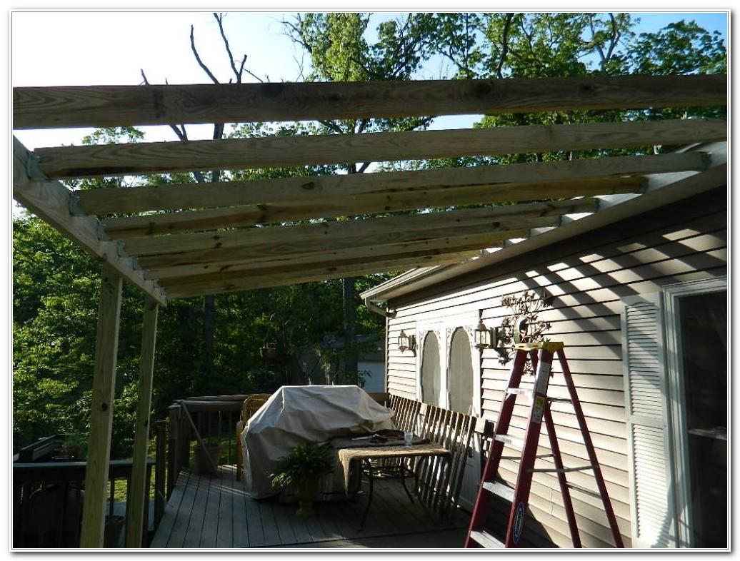 Diy Metal Roof Over Deck