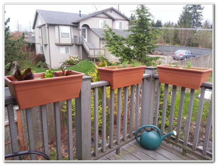 Flower Boxes For Deck Railing Plans
