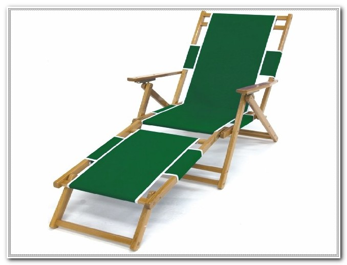 Folding Wood Canvas Deck Chairs