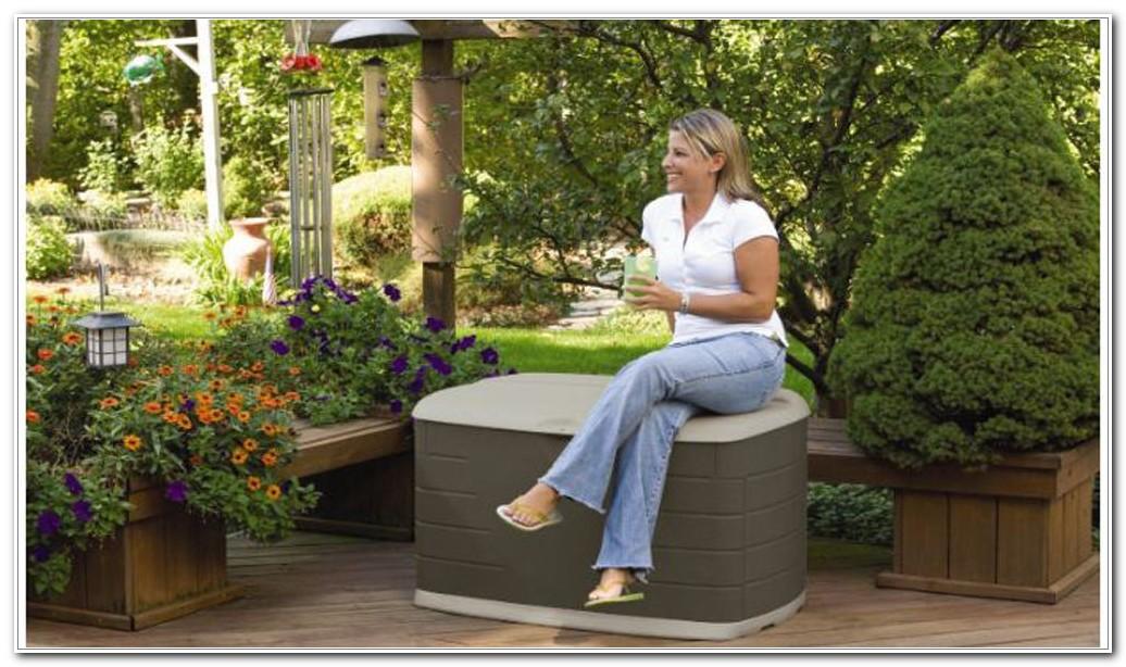 Garden Storage Deck Box With Seat