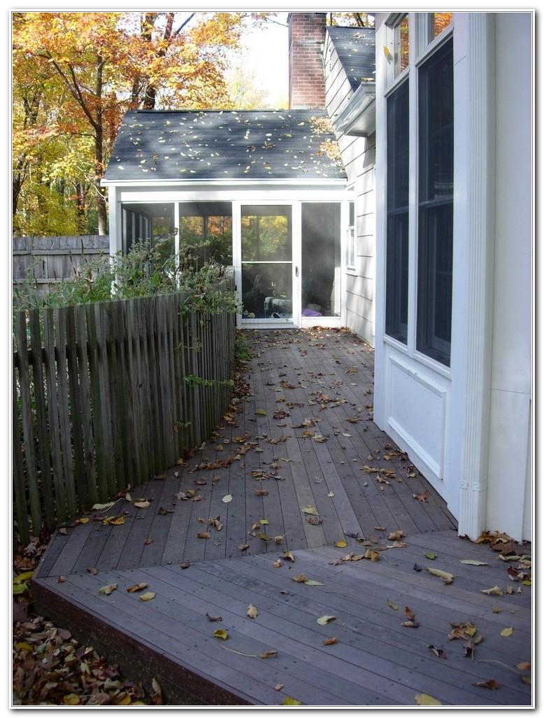 Ground Level Wood Deck Design