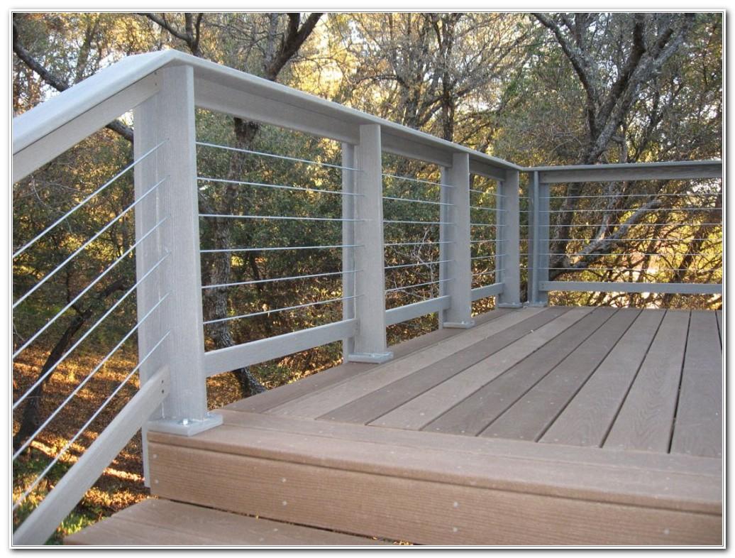 Horizontal Wood Deck Railing Designs