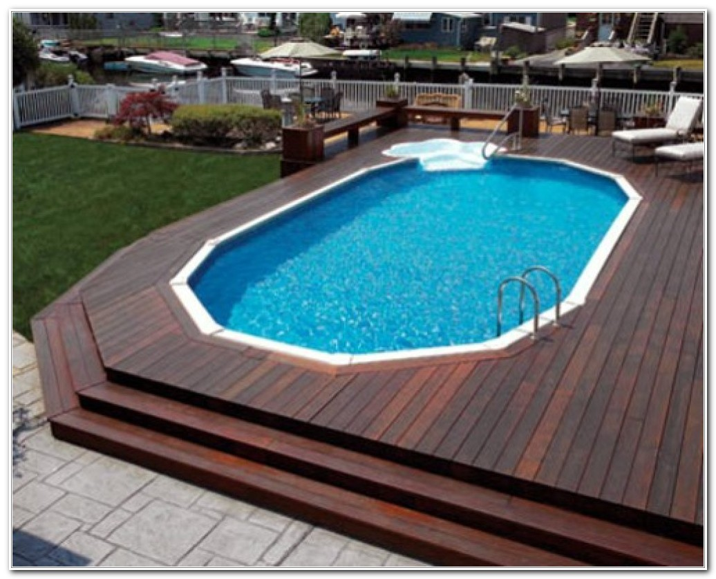 Ideas For Above Ground Pool Decks