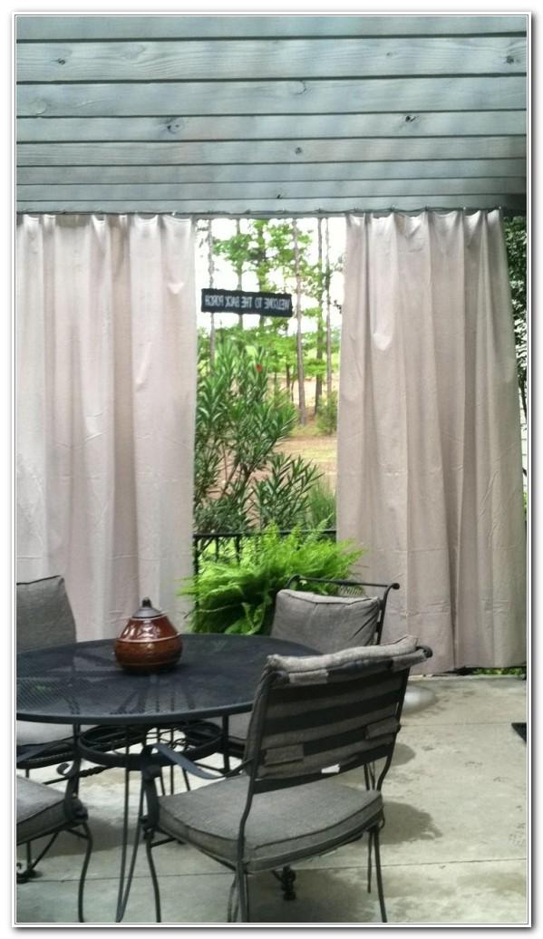 Outdoor Curtains Under Deck