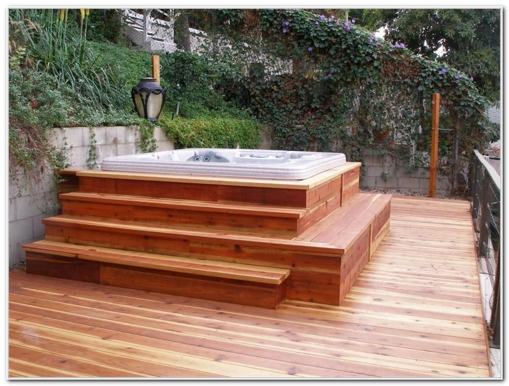 Outdoor Hot Tub Deck Designs