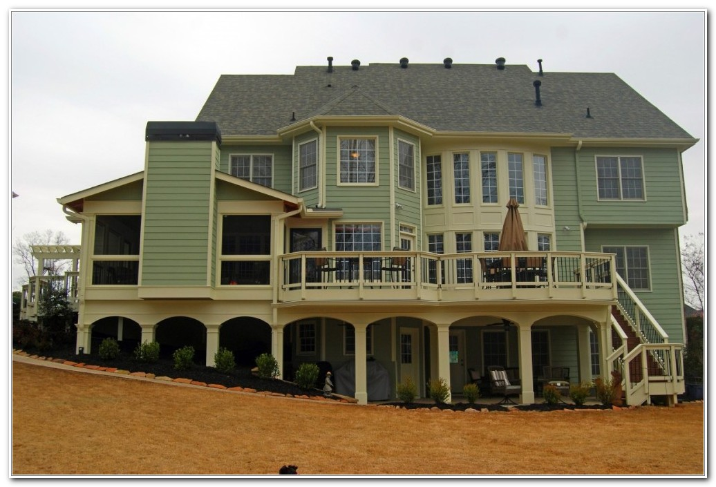 Patio And Deck Combination Designs