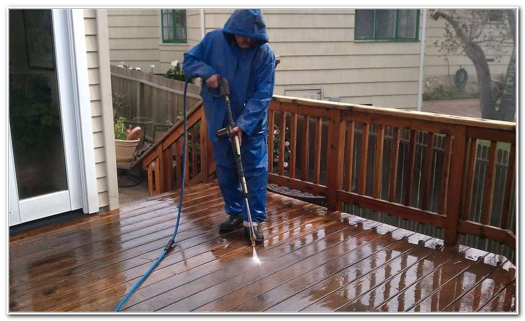 Pressure Washing Before Staining A Deck