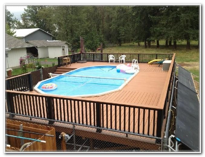 Round Above Ground Pool Deck Kits