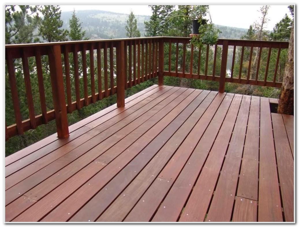 Simple Wood Deck Railing Designs