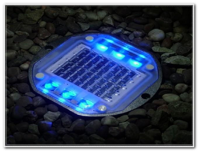 Solar Powered Decking Lights Blue