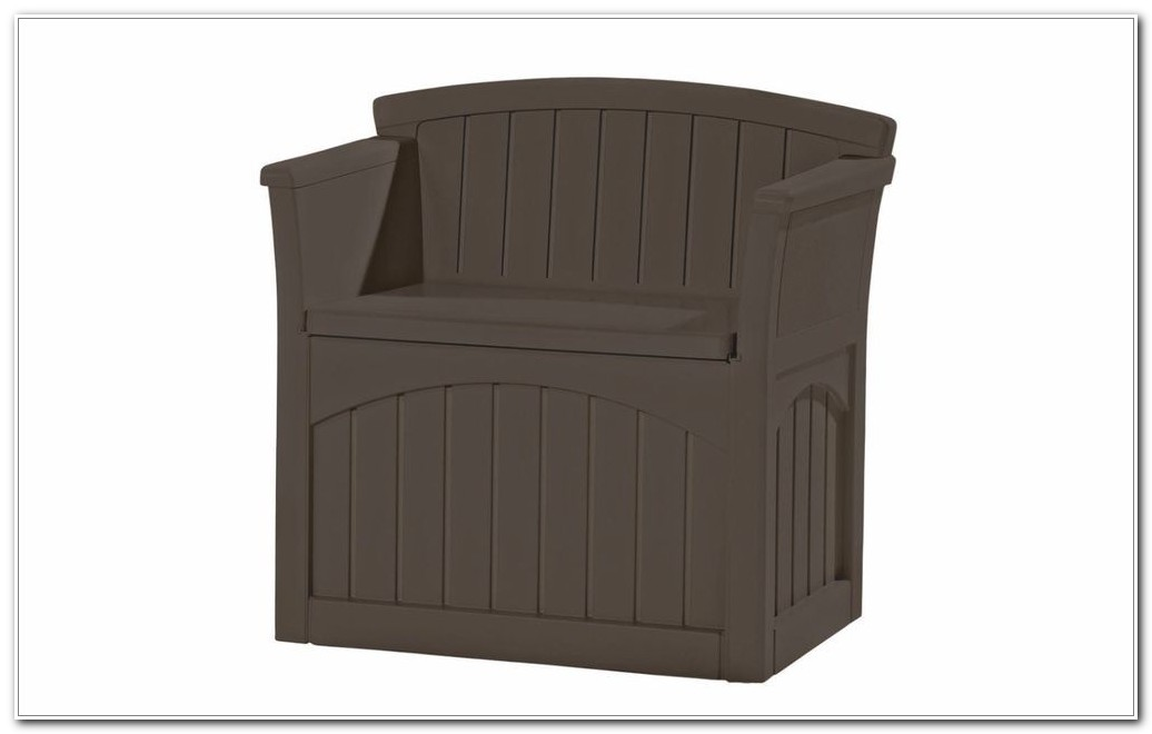 Suncast Resin Deck Storage Box With Seat
