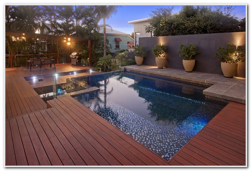 Swimming Pool Wood Deck Designs