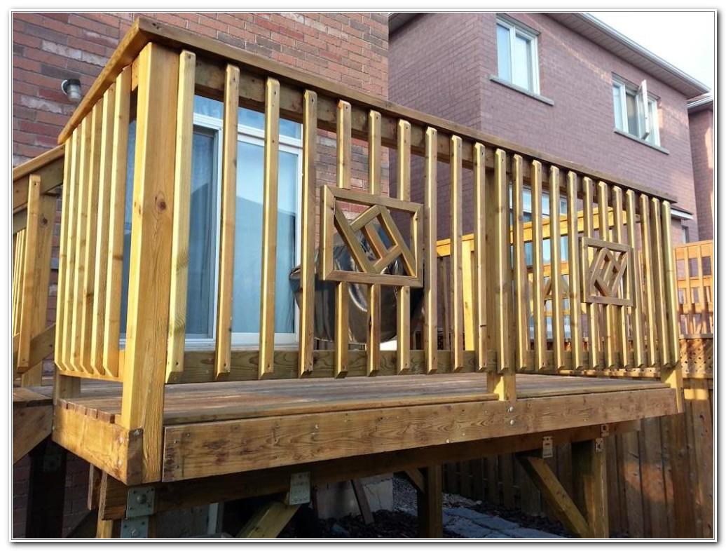 Wood Deck Railing Designs Diy