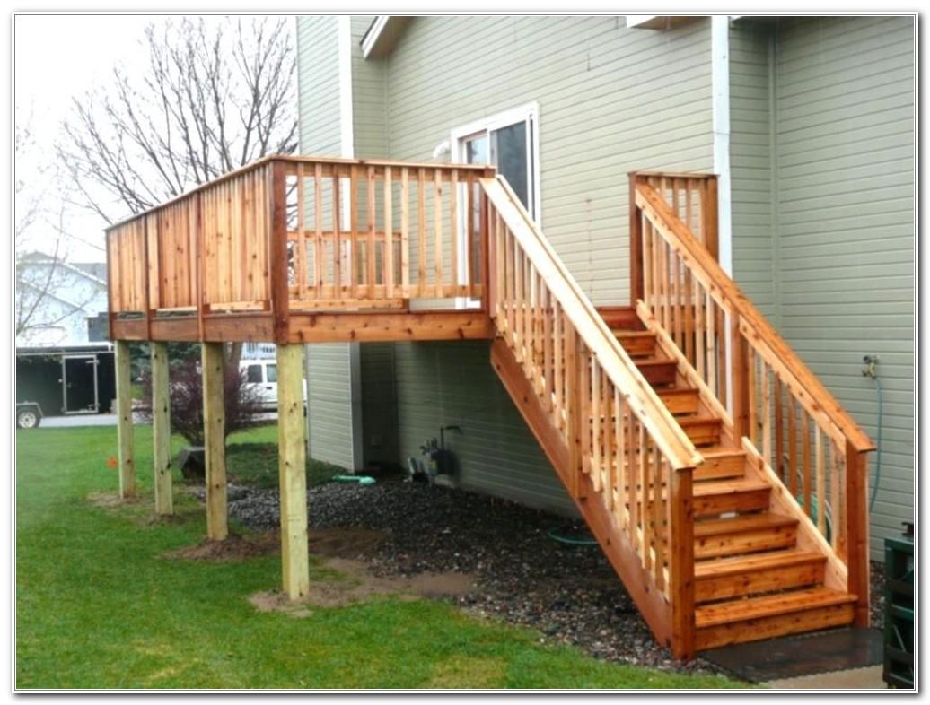Wood Deck Stair Railing Designs