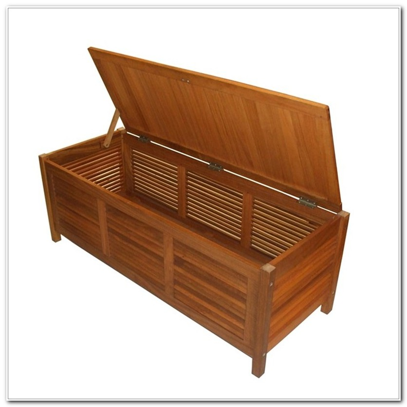 Wood Outdoor Storage Box