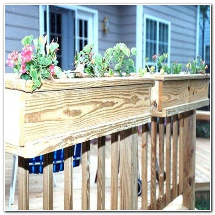 Wooden Flower Boxes For Deck