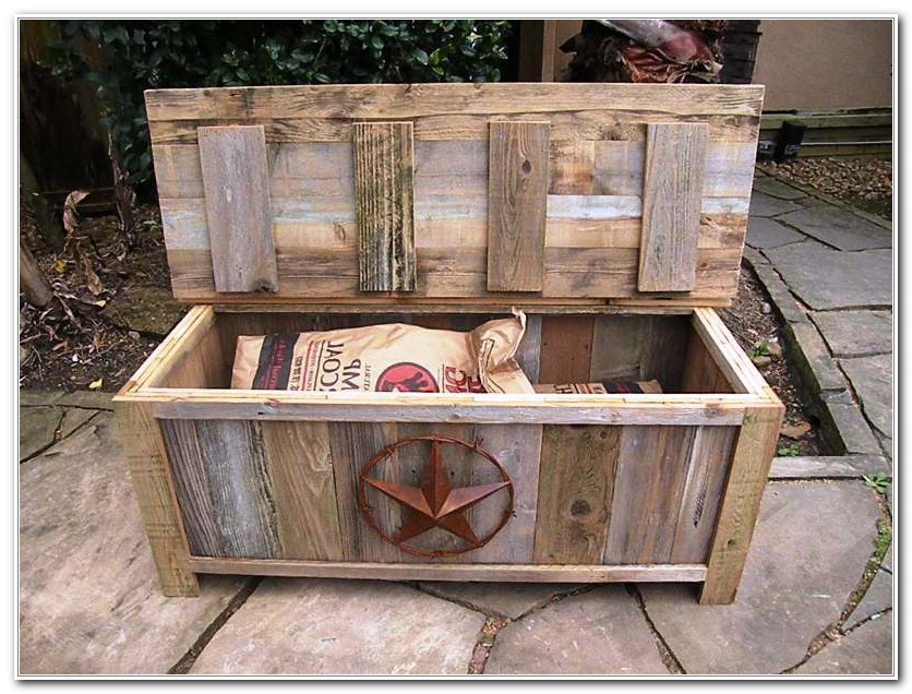 Wooden Outdoor Storage Box
